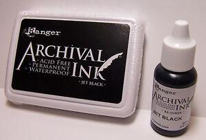 Ranger-Archival-Ink-Jet-Black-Stamp-Pad-and-Reinker-Acid-Free-Waterproof