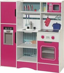 Cucina Per Bambini In Legno Capocuoco Completa Di Elettrodomestici Ebay