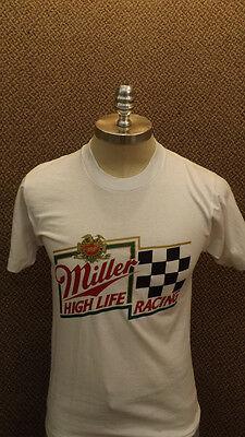 Vtg NOS Miller High Life Beer Racing T-Shirt  Screen Stars sz M Unworn USA Made
