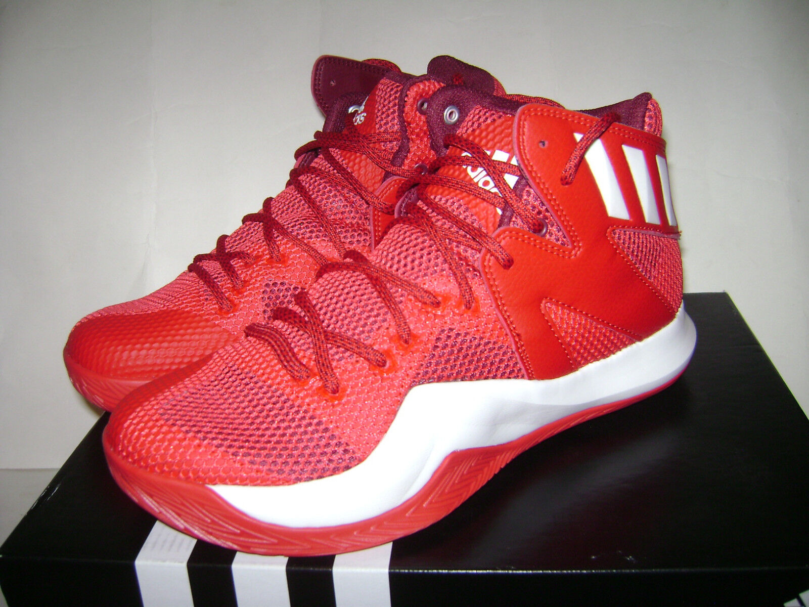 NIB ADIDAS Crazy Bounce Men Basketball Shoes Sneakers size 6.5 Red White B72768