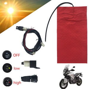 1x Universal Heated ATV Seat Pad Heating Seat Heater 12V w// Low//High//Off Switch