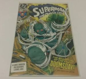 Superman-Man-of-Steel-18-NM-1st-Doomsday-DC-Comics-Comic-Book-CGC-Worthy