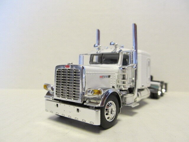 DCP 1/64 SCALE 389 PETERBILT FLAT TOP WHITE & CHROME, PRIDE & CLASS HOOD & GRILL