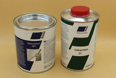 Sabaclean 21 Reiniger für die zu verklebenden Materialien mit Sabacontact 70T