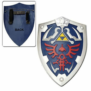 Legend-of-zelda-Ocarina-of-time-link-039-s-Hylian-Shield-with-Grip-amp-handle-cosplay