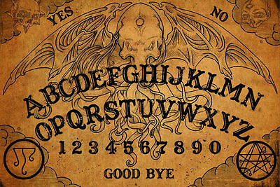 photograph about Printable Ouija Board called Framed Print - Basic Ouija Board (Visualize Poster Artwork Ghost Magic Demise Lifeless) eBay