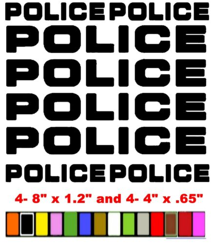 POLICE  COPS  LAW  STICKERS  DECALS   *ANY COLOR*