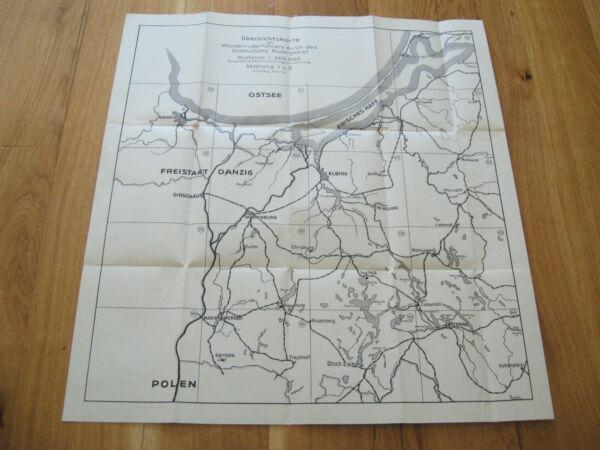 Alte Landkarte Übersichtskarte Durch Das Ostdeutsche Rudergebiet Danzig Elbing Jahre Lang StöRungsfreien Service GewäHrleisten