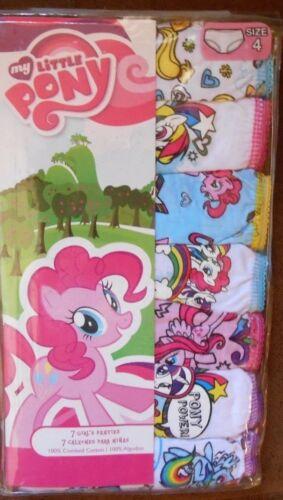 Girls My Little Pony Friendship is Magic Brief Panties Underwear 7 Pk. Size 4