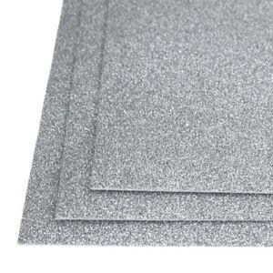 Details about Self-Adhesive Glitter EVA Foam Sheet, 8-Inch x 12-Inch,  3-Piece, Silver