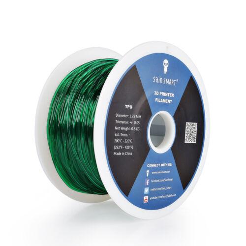 SainSmart 1.75mm TPU Flexible 3D Printer Printing Filament 0.8KG 1KG Spool
