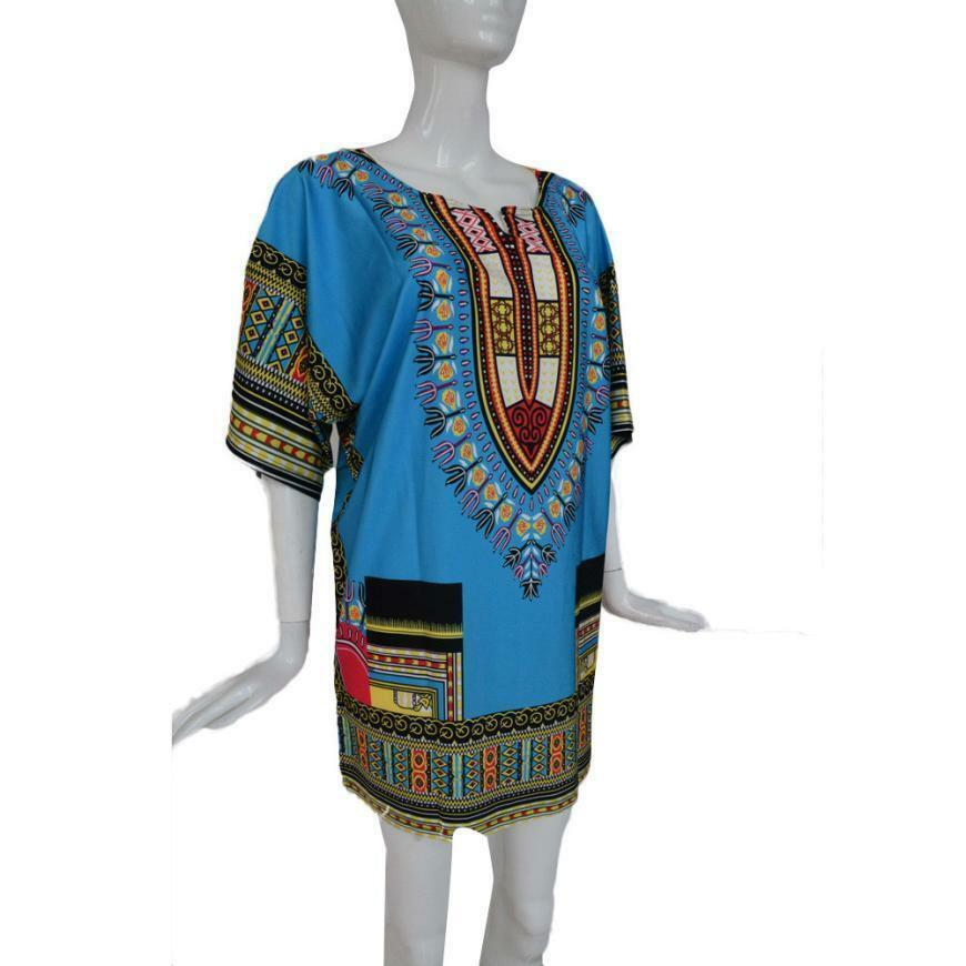 Traditional African Print Dress - Straight Print Above Knee Dresses