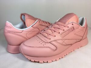 3aaa16f05d5 Image is loading WOMENS-REEBOK-CLASSIC-LEATHER-PASTELS-BD2771-Patina-Pink-