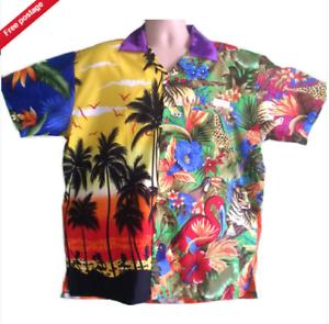 Objectif Crazy Loud Coloré Stag Party Fancy Dress Hawaiian Shirts-afficher Le Titre D'origine