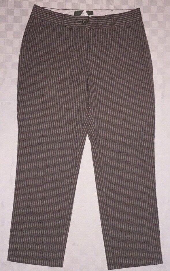 460 ETRO Women's Pants 42   6  Cropped Striped Cotton Stretch