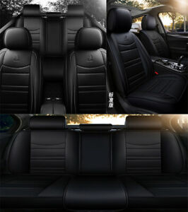 PU-Leather-Car-Seat-Covers-Front-amp-Rear-Full-Coverage-Luxury-Car-Styling-Interior