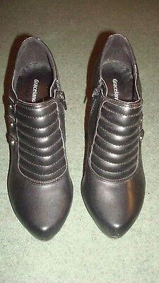 Graceland Negro Tacón Alto Zapatos De Las Señoras. tamaño 38. buen estado, pero las marcas en TH