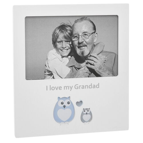 White 6/' x 4/' Photo Frame with Cut Out Design I Love My Grandad