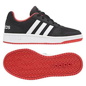 Adidas Boys Trainers Hoops 2.0K Low Top Basketball Kids Sports Casual Shoes
