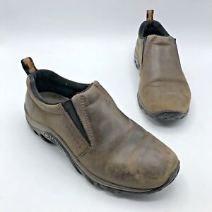 Merrell-Jungle-Moc-Nubuck-Women-Brown-Leather-Slip-On-Shoe-Size-9-5M-Pre-Owned
