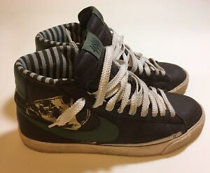 Nike-Hi-Top-Sneakers-Men-039-s-10-5-Independent-Pleasure-Club-New-Jersey-Brown-Green