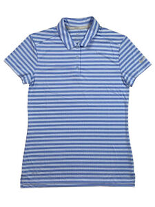 Nike-Golf-Womens-Dri-Fit-Victory-Striped-Polo-Shirt-Blue-884867-415-New