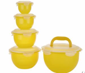 Lock /& Lock 5-Piece Nesting Tulip Bowl Storage Set K47966