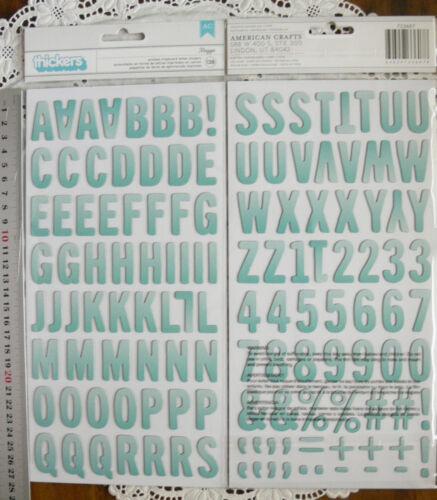 SUN Vargtd MINT Chipboard 138 Alphabet /& Numbers 30mmHigh/&6-24mmWide L7 MAGGIE