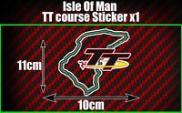 Isle Of Man TT Races Course Decal Sticker, Manx GP Moto Road Races car van bike