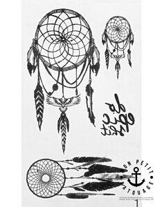 Details Sur Tatouage Temporaire Ephemere Ete Attrape Reves Dreamcatcher Plumes Ink Femme