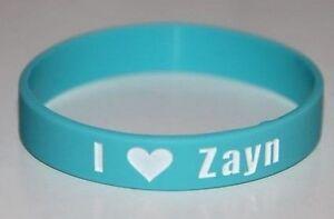 """Amical One Direction 1d """"i & Lt3 Love Zayn"""" Aqua Blue Bracelet Bracelet * Jour Même Poste-afficher Le Titre D'origine"""