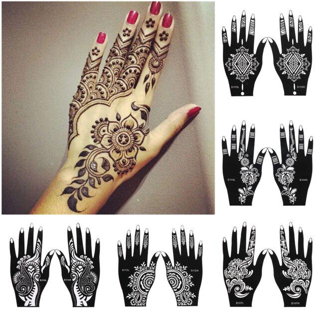 Tattoo Stencils Diy Body Art Henna Template Sticker Temporary Hand Decal For Sale Online Ebay