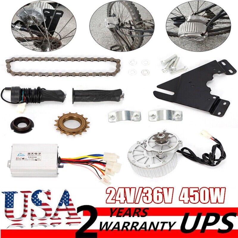24V 36V 450W Electric Left Chain Drive Conversion Kit Ebike Conversion Kit USA