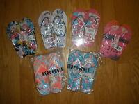 Women's Aeropostale Assorted Prints/colors Flip-flops Flamingo Etc Size 6