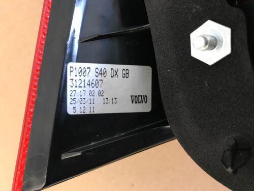 08-11 Volvo S40 Right Rear Tail Light 30763496