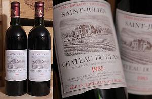 2 Fl. 1985er Chateau Tu Glana-saint Julien-top Millésime!!!-afficher Le Titre D'origine Divers Styles