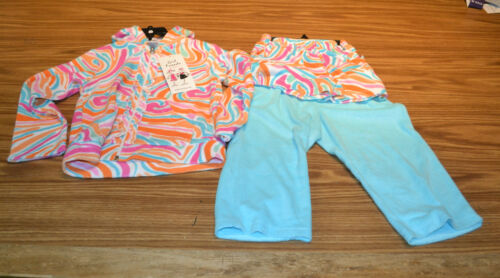 Girlfriends Girl's Terry Cloth 3pc Outfit-TURQUOISE//ORANGE SWIRL-5-NWT