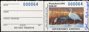 MISSOURI-13GH-1991-HAND-SIGNED-GOVERNOR-STAMP-ONLY-100-MADE-64-John-Ashcraft