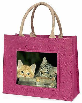 Kätzchen im bier Fass 'Liebe, die Sie Mama' große rosa Einkaufstasche Chris,