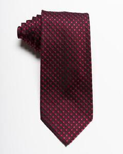 "Tom Ford $270 NWT Dark Green Textured Silver Grid Pattern 100/% Silk Tie 3.25"""