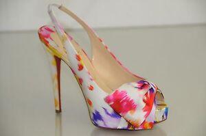 NEW-Christian-Louboutin-VENDOME-SLING-NODO-Satin-Bouquet-Bow-Shoes-Sandal-38