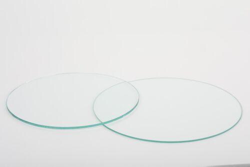 Glasplatte Tischplatte rund Glasscheibe nach Maß Floatglas Klarglas Fase