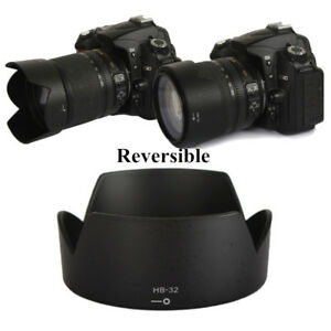 HB-32-Lens-Hood-Reversible-Bayonet-For-Nikon-DX-AF-S-18-70-18-105-18-135-18-140