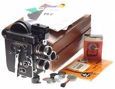 BOLEX H8 Vintage film camera 3 turret macro switar lenses Gossen meter caps case