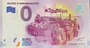 BILLET-0-EURO-MUSEE-D-039-ARROMANCHES-FRANCE-2017-N-PALINDROME-13331