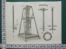 1818 DATED ANTIQUE PRINT ASTRONOMICAL INSTRUMENTS ZENITH SECTOR RAMSDEN DOLLANDS
