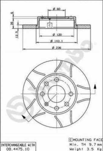 Brembo discos de freno pastillas de freno delantero ø236 Opel Kadett E Caravan 3898847