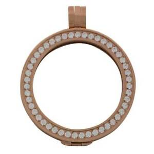 Carlo biagi cz rose gold tone pendant holder coin collection jewelry image is loading carlo biagi cz rose gold tone pendant holder aloadofball Images