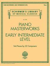 Piano Masterworks Early Intermediate Level Sheet Music Schirmer NEW 050600033