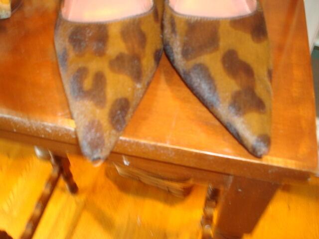 Alaia of Paris High Heeled Pumps Pumps Pumps Leopard Spotted Brown Black Fur. Sz 6 36 1 2 ae8739